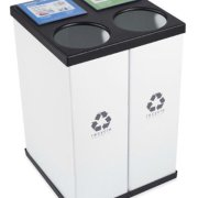 Large DOUBLE Recycling Recycle Bin - 25 Gallon (ea)