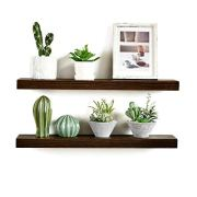 WELLAND Bradley Floating Shelves Handmade Wood Wall