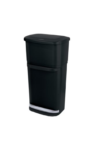 Rubbermaid 2-in-1 Recycler, Black