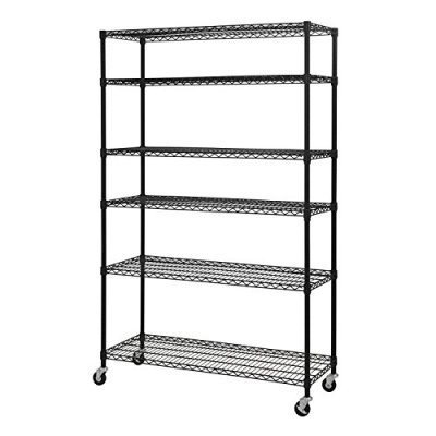 """Sandusky Lee Tier Wire Shelving Unit with 3"""" Rubber Casters"""
