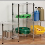Honey-Can-Do 3-Tier Steel Wire Shelving Tower, Chrome