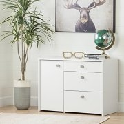 South Shore 1-Door Office Storage Unit with File Drawer