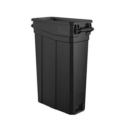 Suncast Commercial Narrow Trash Can With Handles