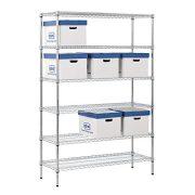"""Muscle Rack Steel Shelving Unit, 6 Shelf, 48"""" Width"""