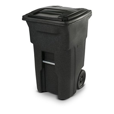 Toter Residential Heavy Duty Two Wheeled Trash Can