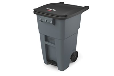 Rubbermaid Commercial Products Brute Rollout Step On Trash/Garbage Can