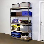 "MonsterRax 18""x48""x72"" Modular Garage Shelving - Hammertone Steel Storage"