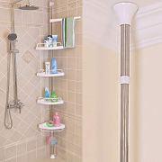 HYNAWIN Tension Corner Shower Caddy Adjustable 4 Tier Shower Caddies