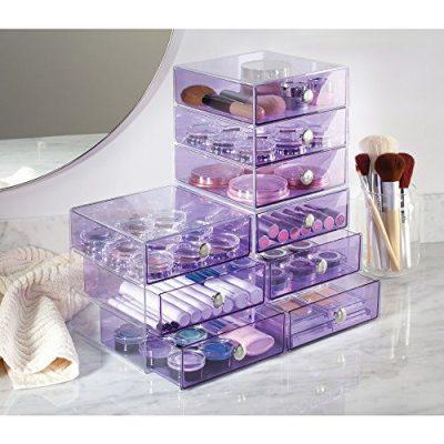 InterDesign 3-Drawer Storage Organizer for Cosmetics, Makeup