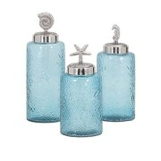 Imax Aubrey Lidded Glass Canisters-Set of Three
