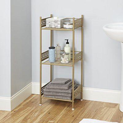 Silverwood Filigree Bathroom Collection Floor Shelf