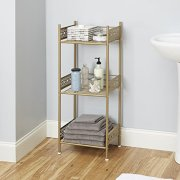 Silverwood Filigree Bathroom Collection Floor Shelf