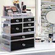 Sorbus Cosmetics Makeup and Jewelry Storage Case Display Set
