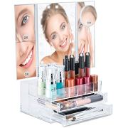 Bellapelle TriFold LED Lighted Makeup Mirror Touch Dimmable