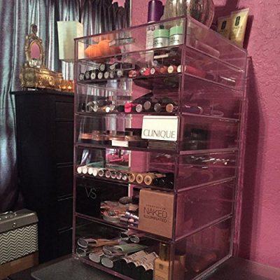 GlamoureBox Acrylic Cosmetic Cube Organizer Makeup Case