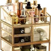 Gold Makeup Organizer,Cosmetic Storage Display Case