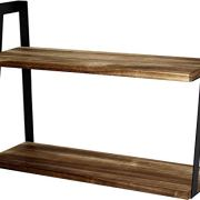 2-Tier Rustic Floating Wall Shelves for Bedroom, Kitchen
