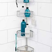 Zenna Home NeverRust Shower Tension Pole Caddy