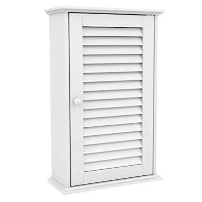 go2buy White Wood Bathroom Wall Mount Cabinet Toilet Medicine Storage