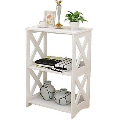 Rerii Display Shelves, Wood & Plastic Composite, 2-Tier Free Standing Shelf