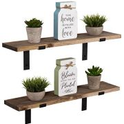 Imperative Décor Rustic Wood Floating Shelves Wall Mounted Storage Shelf