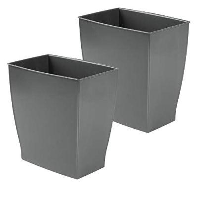 mDesign Rectangular Trash Can Wastebasket, Small Garbage Container