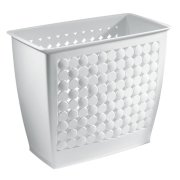 iDesign Orbz Plastic Wastebasket, Trash Can for Bathroom, Bedroom
