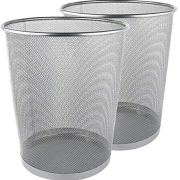 Greenco Mesh Wastebasket Trash Can, 6 Gallon
