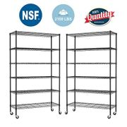 BestOffice 6 Tier Adjustable Wire Metal Shelving Rack