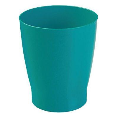 iDesign Franklin Wastebasket Trash Can, Waste Basket Garbage Can for Bathroom