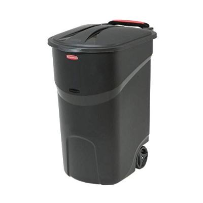 Home & Comforts 45 Gallon Black Trash can with lid Trash can