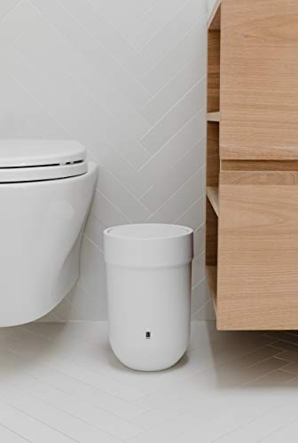 Umbra Touch Waste Can, Small Trash Can with Lid, Swing Lid Waste Basket