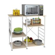 DlandHome Microwave Cart Stand 35.4 inches, Kitchen Baker's Rack