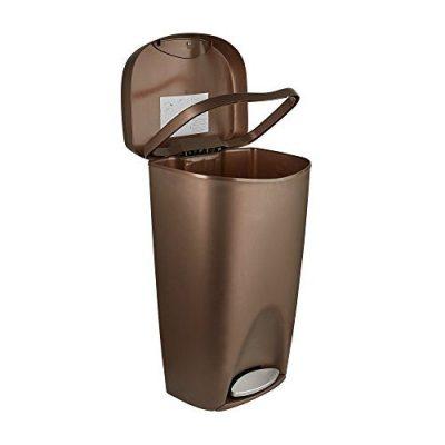 Umbra, Bronze Brim Large Kitchen Trash Stainless Steel Foot Pedal