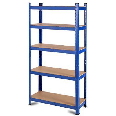 Tangkula Metal Storage Shelves, 60inches Heavy Duty Frame Organizer