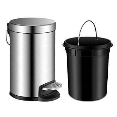 YCTEC Round Mini Trash Can with Lid Soft Close, Bathroom Trash Can