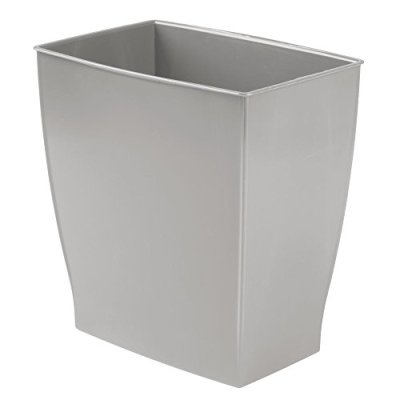 iDesign Spa Rectangular Trash Can, Waste Basket Garbage Can for Bathroom
