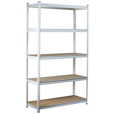 King's Rack 5-Tier White Steel Storage Rack Boltless Shelving Tier