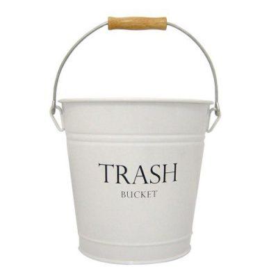 iDesign Pail Metal Wastebasket Trash Can Garbage Can for Bathroom