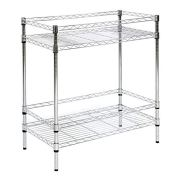 Kinbor 2 Tire Chrome Wire Shelving Unit Metal Utility