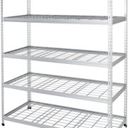AmazonBasics Heavy Duty Storage Shelving Double Post Steel Wire Shelf