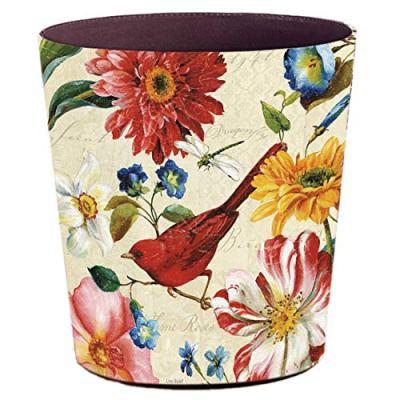 Lingxuinfo Retro Style Small Trash Can Wastebasket, Decorative Trash Can