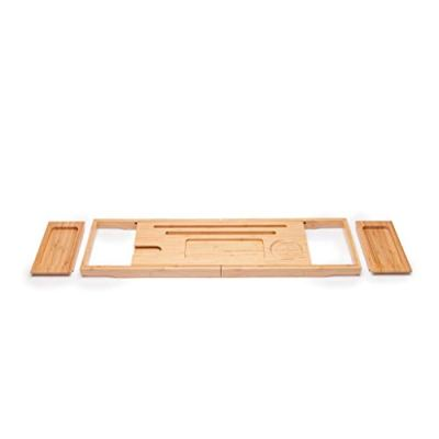 Bathtub Tray Caddy Bathtub Tray Wooden - Bamboo Bathroom Shelf Retractable