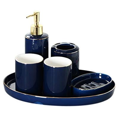 Countertop Soap Dispensers Creative Bathroom Accessories Set Ceramic