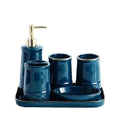 GSAGJysb Bathroom Tray Set, Bathroom Set of Five/Bathroom Supplies