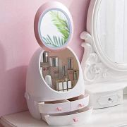 White Makeup Organizer,Modern Jewelry and Cosmetic Storage Display Boxes