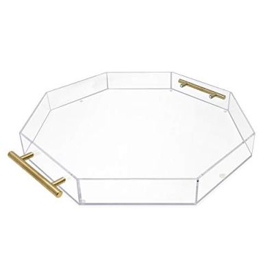 Isaac Jacobs Clear Acrylic Tray with Handle