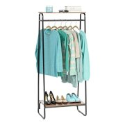 IRIS Metal Garment Rack with 2 Wood Shelves