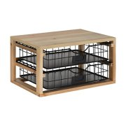 Kate and Laurel Tanner Rustic Wood and Metal Desktop Drawer Organizer