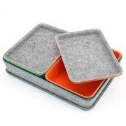 Welaxy Felt Drawer Organizer Trays with lids Desktop Organizer Bins Storage